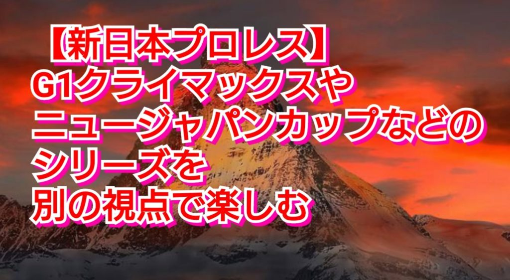 【新日本プロレス】G1クライマックスやニュージャパンカップなどのシリーズを別の視点で楽しむ